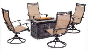 Hanover Monaco Patio Furniture with a Fire Pit
