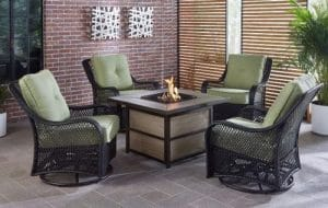 Hanover Orleans Patio Furniture with a Fire Pit
