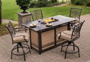 Hanover Traditions Patio Furniture with a Fire Pit