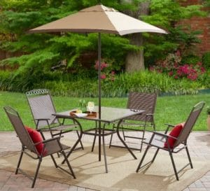 Mainstays Butler Heights patio dining set