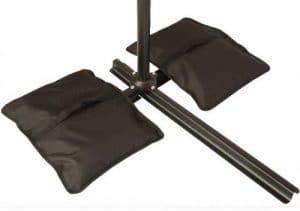 Saddlebag style umbrella counter weight