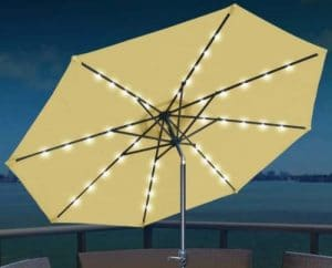 Strong Camel 10 foot solar lighted umbrella