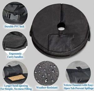 Sunrise Weight bag for umbrella base
