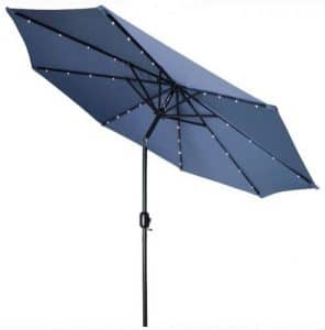 Trademark Innovations 9 foot umbrella with lights
