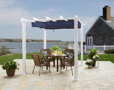 Meritmoor Pergola with Fabric Covering