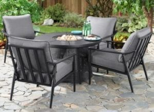 Better Homes & Gardens Acadia Propane Fire Pit Conversation Sets