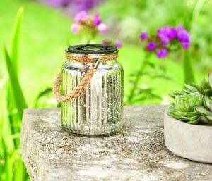 Better Homes & Gardens Small Solar Jar Lantern