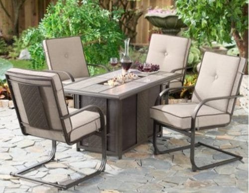 Better Homes and Gardens Everson fire pit chat set