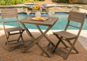 Bristal wood Small Bistro Sets for Outdoor