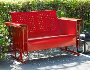 Crosley Bates metal 2 seat outdoor glider bench