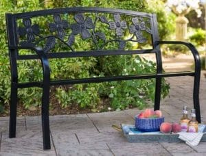 Dogwood Metal Garden Bench