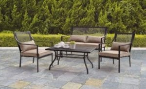 Outdoor Wrought Iron Patio Furniture-Mainstays Bellingham conversation set