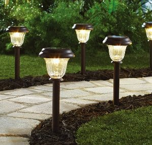 Mainstays Solar path lights