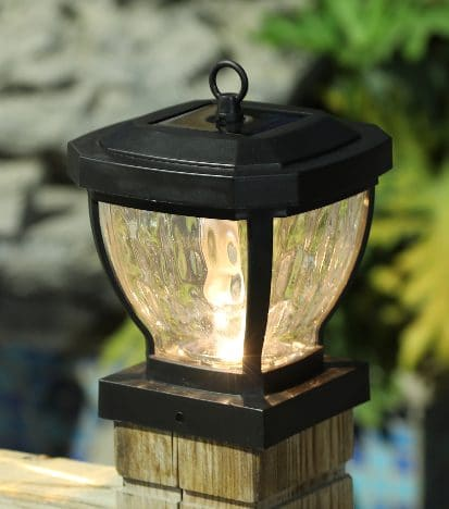 4 x 4 Solar Light Post Cap for Decks