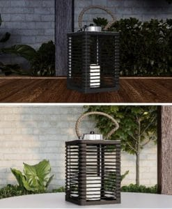 Solar Powered Lantern with LED Candle