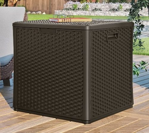 Resin Wicker Outdoor Storage Cabinets