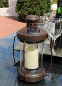Sunnydaze Outdoor Antique Hanging Solar Lantern