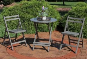 Sunnydaze wood Small Bistro Sets for Outdoor