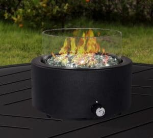Tremont round table top gas fire pit