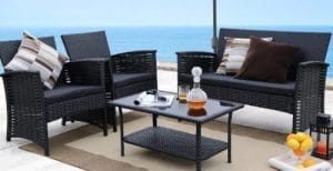 Baner Garden Cheap Wicker Conversation Sets