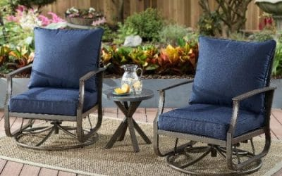 Seven 3 Piece Conversation Patio Sets with Motion for Small Spaces