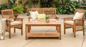 Manor Park wooden Patio Furniture with Love Seat
