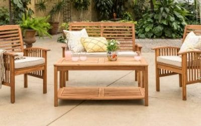 Manor Park 4 piece Outdoor Wooden Patio Furniture Sets