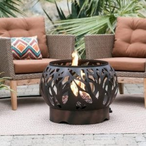 Coral Coast Cypress Outdoor Propane Fire Bowl