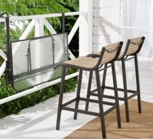 Crowley Park bistro set with table folded down