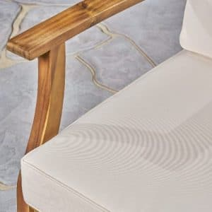 Ingles Acacia wood chair and cushion
