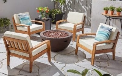 Patio Furniture Set with a Gas Fire Pit