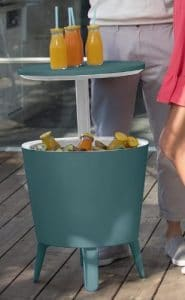 Keter side table cooler teal