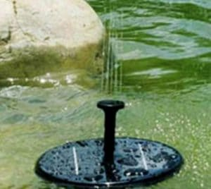Solar water feature for gardens