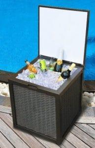 Sunjoy 50 quart box patio cooler