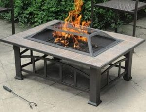 Axxonn rectangular wood burning fire pit