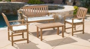 Emilia Acacia patio conversation set