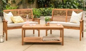 Manor Park conversation set with two love seats