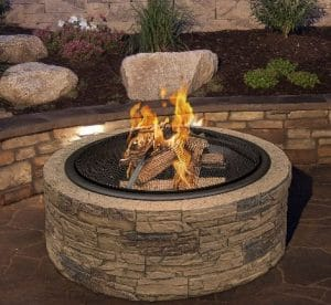 Sun Joe Cast wood burning fire pit