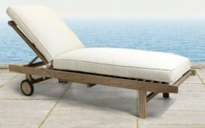 Hamptons Teak wood Chaise Lounge