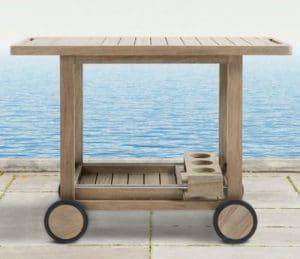 Hamptons Teak Bar Cart