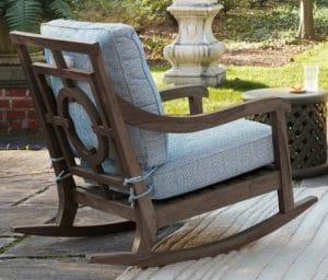 Hamptons Teak wood rocker with cushions