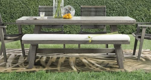 Adones Bench with dining furniture