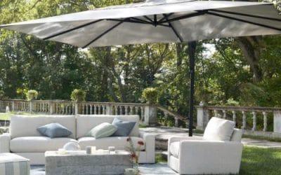 Large Offset Pool Umbrellas
