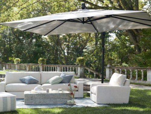 Cantilever Umbrella over Patio Conversation set