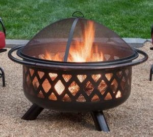 Portable Fire Pits for Outdoor-Endless Summer 30 inch wood burning fire pit