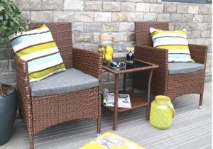 Outdoor Bistro Table and Chairs-Baner Garden patio bistro set