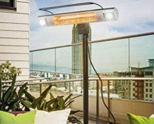 Bar type Outdoor Electric Heaters for Patio on stand