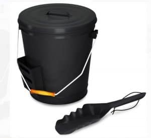 Black Ash bucket with lid and shovel