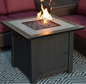 Coral Coast Middleton fire pit for wood deck