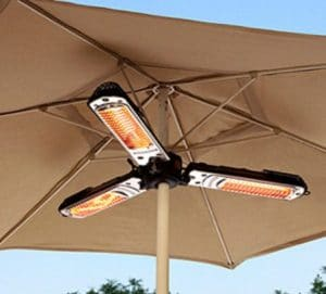 Hiland Outdoor Electric Heaters for Patio on umbrella post